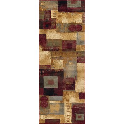 Barbarra Brown/Red Area Rug Rug Size: Runner 27 x 73