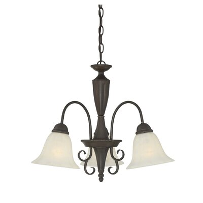 Eaton 3-Light Shaded Chandelier Finish: Walnut Patina