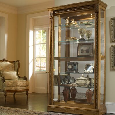 Dunstaffnage Lighted Curio Cabinet Color: Estate Oak