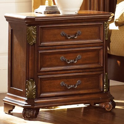 Cavas 3 Drawer Nightstand Color: Cognac