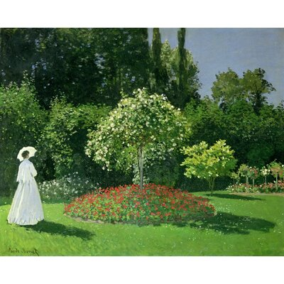 'Jeanne Marie Lecadre in the Garden' by Claude Monet Print Poster Size: 19