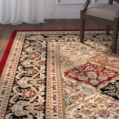 Clarence Red/Beige Area Rug Rug Size: Rectangle 11 x 15