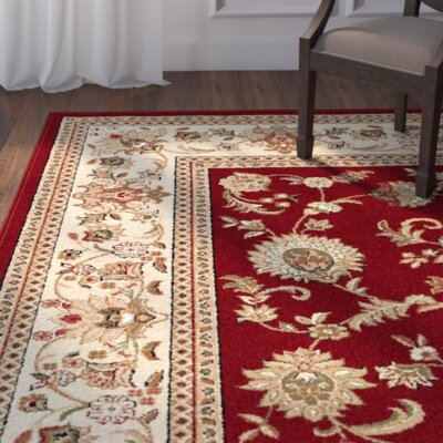 Clarence Beige/Red Area Rug Rug Size: Rectangle 11 x 15
