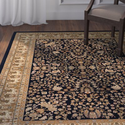 Belcourt Floral Black/Brown Area Rug Rug Size: Runner 27 x 710