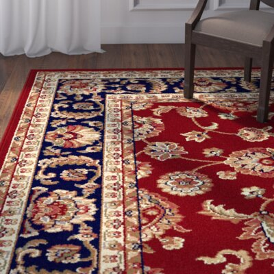 Clarence Red/Navy Blue Area Rug Rug Size: Rectangle 11 x 15