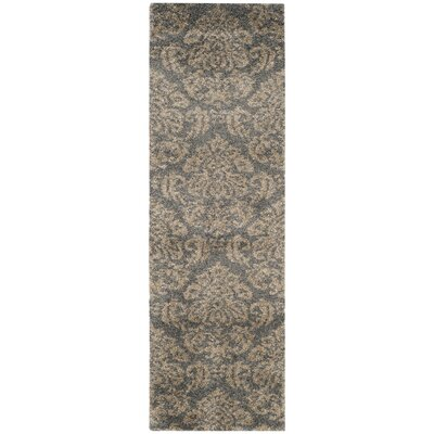 Steephill Gray/Beige Area Rug Rug Size: Runner 2'3