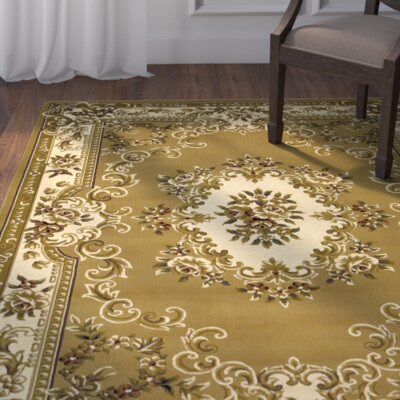 Barwin Beige/Ivory Aubusson Rug Rug Size: Rectangle 33 x 411