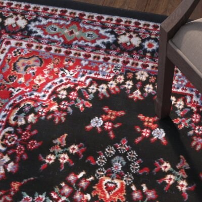 Lilly Black Area Rug Rug Size: Runner 110 x 73