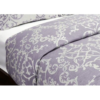 Savoy Reversible Duvet Cover Size: King, Color: Lavender