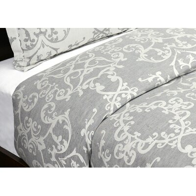 Savoy Reversible Duvet Cover Size: Full/Queen, Color: Charcoal
