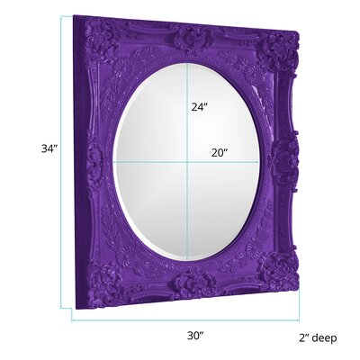 Rectangle Glossy White Mirror Finish: Royal Purple