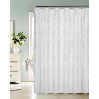Thorpe Shower Curtain Color: White