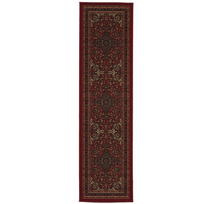 Ryan Red Area Rug Rug Size: Runner 18 x 411