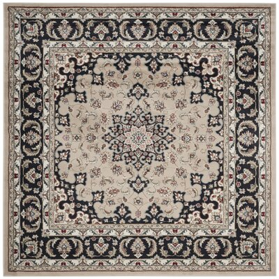 Taufner Cream/Anthracite Area Rug Rug Size: Square 7 x 7