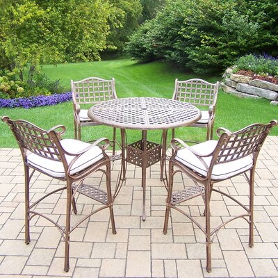 Thelma 5 Piece Aluminum Bar Set with Cushions Cushion Color: Sunbrella Spunpoly