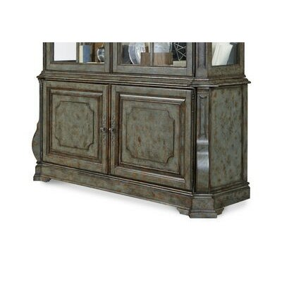 China Cabinet Base Color: Patina Bleu