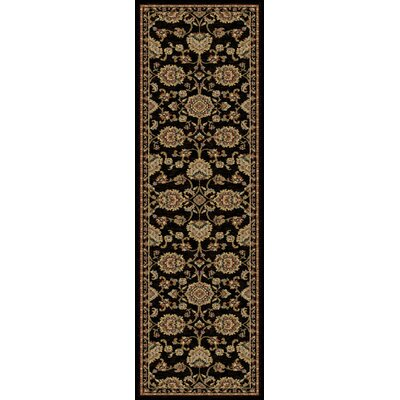 Clarence Black/Gold Area Rug Rug Size: Runner 2 x 8