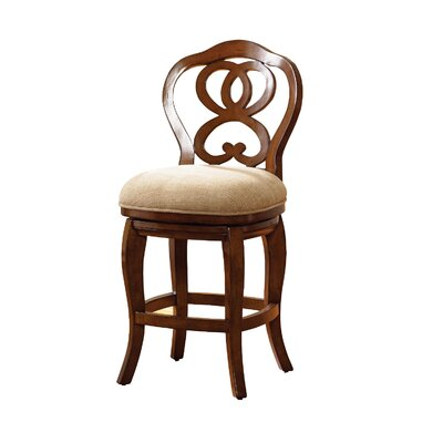 Paier Counter Height Barstool Finish: Cherry