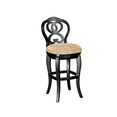 Paier Bar Stool Color: Black