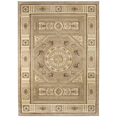 Amera Camryn Beige Rug Rug Size: Rectangle 53 x 76