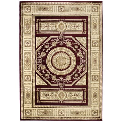 Amera Camryn Burgundy Rug Rug Size: Rectangle 710 x 106
