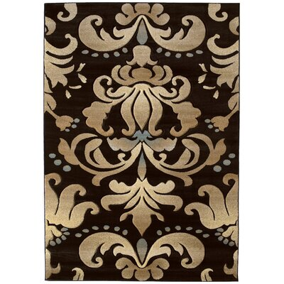 Amera Lotus Dark Chocolate Rug Rug Size: Runner 27 x 74