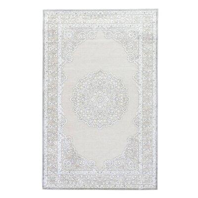 Trinidad Ivory/Gray Area Rug Rug Size: 2 x 3