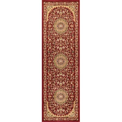 Colindale Red Area Rug Rug Size: Runner 26 x 12