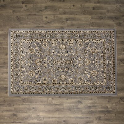 Concord Gray Area Rug Rug Size: Round 8