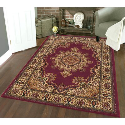 Northington Burgundy Area Rug