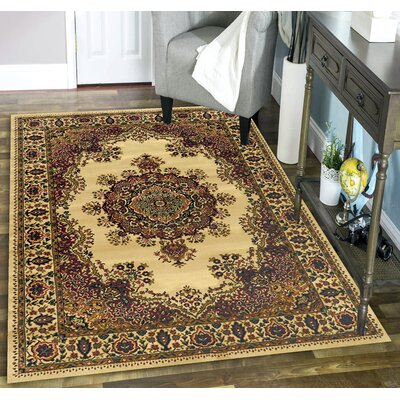 Northington Ivory Area Rug Rug Size: Rectangle 55 x 77