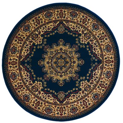Northington Blue Area Rug Rug Size: Round 53