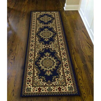 Northington Blue Area Rug Rug Size: Runner 22 x 77