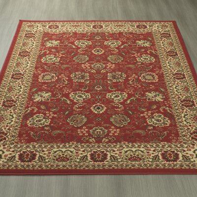 Ryan Red/Gold/Sage/Green/Brown Area Rug Rug Size: 33 x 5