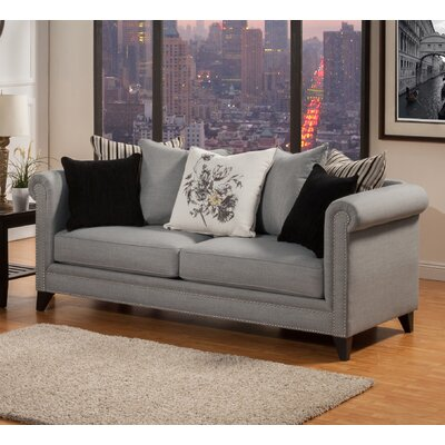 Henson Tufted Sofa Upholstery: Steel Gray
