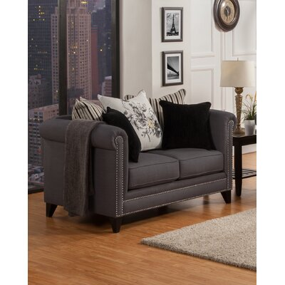 Henson Tufted Loveseat Upholstery: Dark Ash