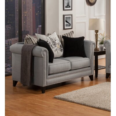 Henson Tufted Loveseat Upholstery: Steel Gray