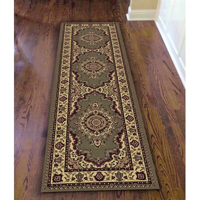 Northington Green Area Rug Rug Size: Runner 22 x 77