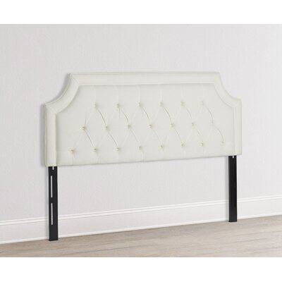 Alwin Upholstered Panel Headboard Size: King, Color: White
