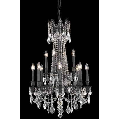 Utica 12-Light Crystal Chandelier Crystal Color / Crystal Trim: Golden Teak (Smoky) / Royal Cut