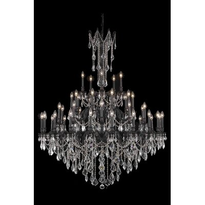 Utica 45-Light Crystal Chandelier Crystal Color / Crystal Trim: Crystal (Clear) / Elegant Cut