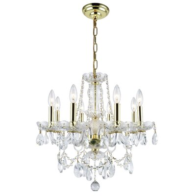 Rochelle 8-Light Crystal Chandelier Finish: Gold