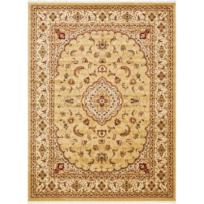 Anthonyson Beige Area Rug Rug Size: Rectangle 6 7 x 9 10