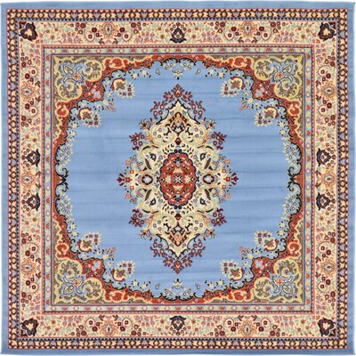 Britain Blue/Beige Area Rug Rug Size: Square 8