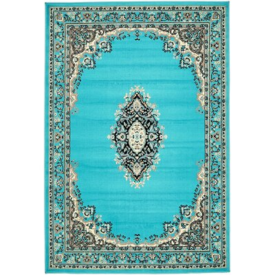 Britain Turquoise Area Rug Rug Size: Rectangle 4 x 6