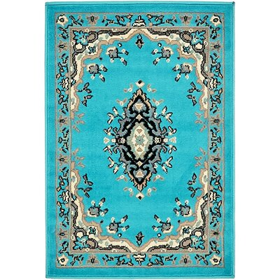 Charlie Turquoise Area Rug Rug Size: Rectangle 2 x 3