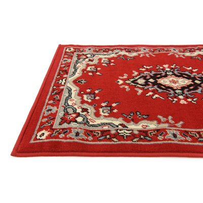 Charlie Red Area Rug Rug Size: Rectangle 7 x 10