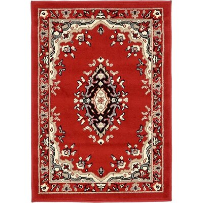Charlie Red Area Rug Rug Size: Rectangle 22 x 3