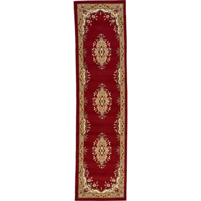 Britain Red Area Rug Rug Size: Runner 3' x 16'5