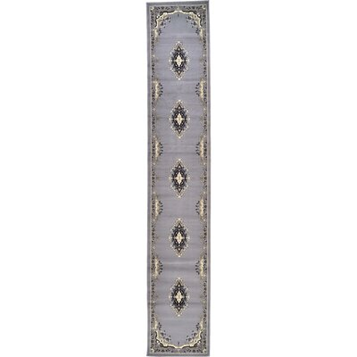 Britain Gray Area Rug Rug Size: Runner 27 x 10